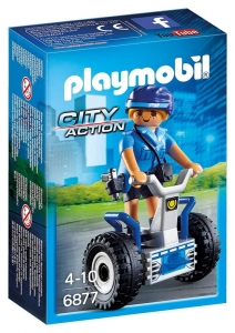 PLAYMOBIL MUJER POLICIA CON VEHICULO COD 6877