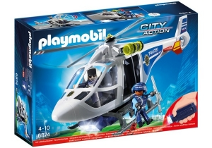 PLAYMOBIL CITY ACTION HELICOPTERO POLICIA CON LUCES COD 6921