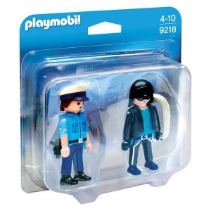 PLAYMOBIL FIGURAS DUO PACK POLICIA Y LADRON COD 9218