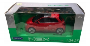 AUTO WELLY 1:24  FIAT 500 2007 COD 22514