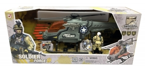 SET SOLDIER FORCE 9 HELICOPTERO LANZA MISIL SONID COD 540052