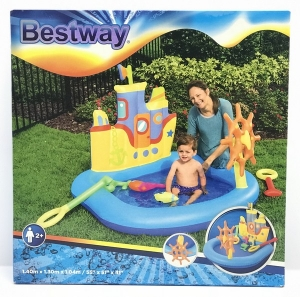 BESTWAY PLAY CENTER BARCO PIRATA 140X130X104 CM COD 52211