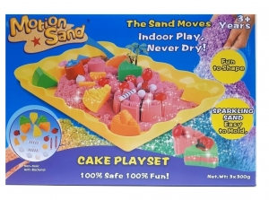 ARENA MAGICA MOTION SAND CAKE PLAYSET CON MOLDES COD MS25