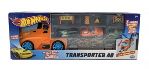 HOT WHEELS CAMION TRANSPORTADOR INCUYE 3 AUTOS COD 42033