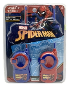 SPIDER MAN WALKIE TALKIE CON ANTENA FLEXIBLE COD 2222