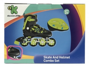 ROLLER CON CASCO DISCOVERY KIDS EXTENSIBLE 34 AL 37 COD 3323
