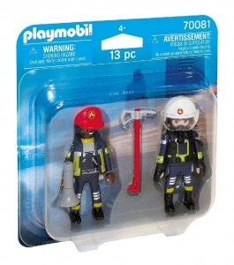 PLAYMOBIL DUO PACK BOMBEROS CON EQUIPO COD 70081