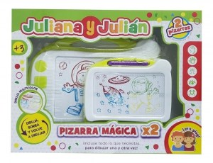 PIZARRA MAGICA X 2 JULIANA Y JULIAN MULTICOLOR COD JUL078